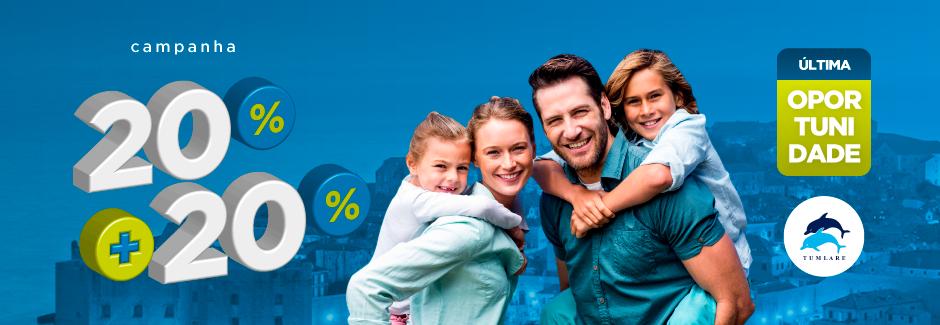 Tumlare: 20% + 20% de Desconto