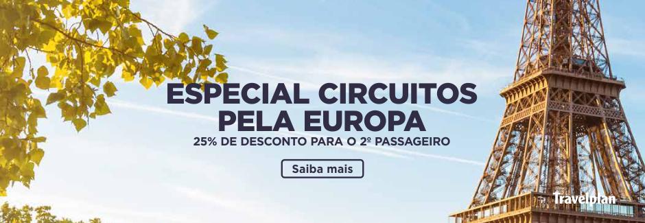 Circuitos Especiais pela Europa com 25% de desconto
