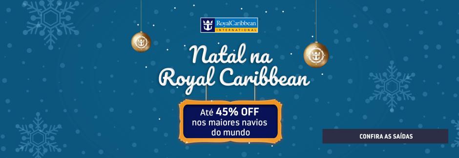 Natal na Royal Caribbean - Até 45% OFF
